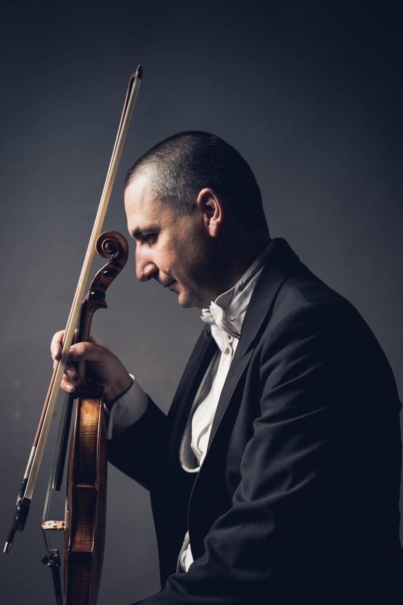 PEP Inspire Inc, contemplative violinist, introspective